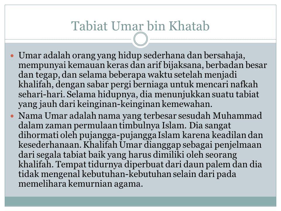Tabiat Umar bin Khatab