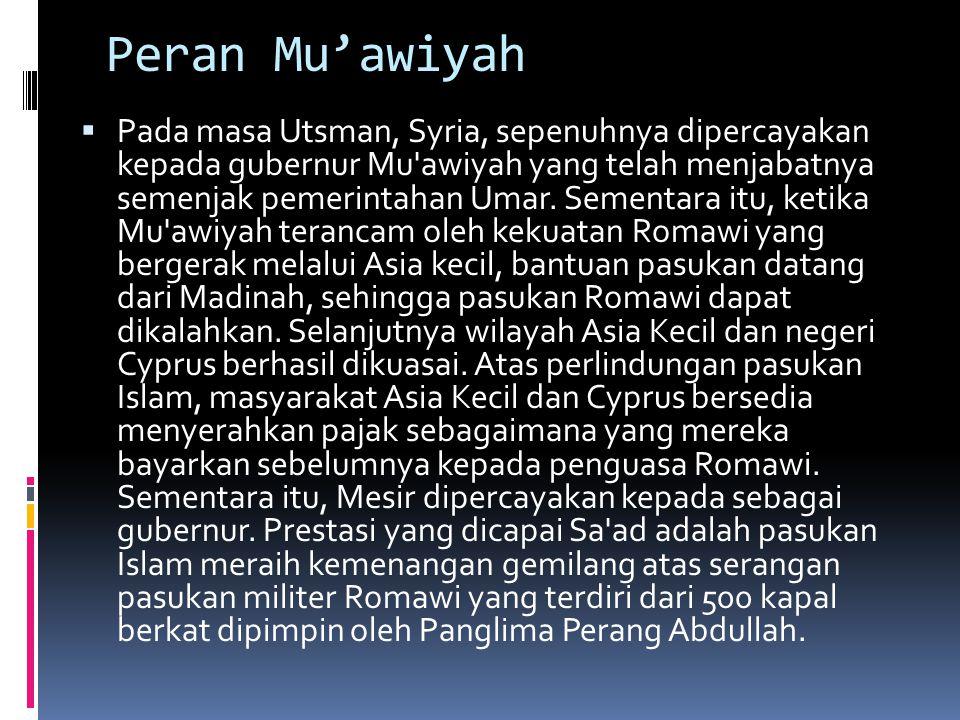 Peran Mu'awiyah