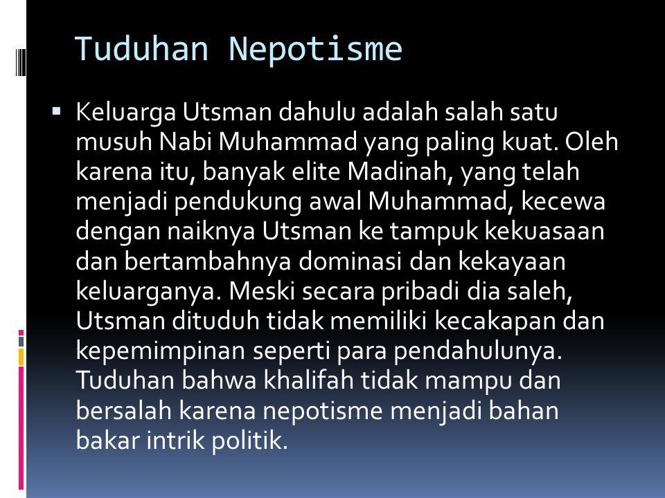 Tuduhan Nepotisme