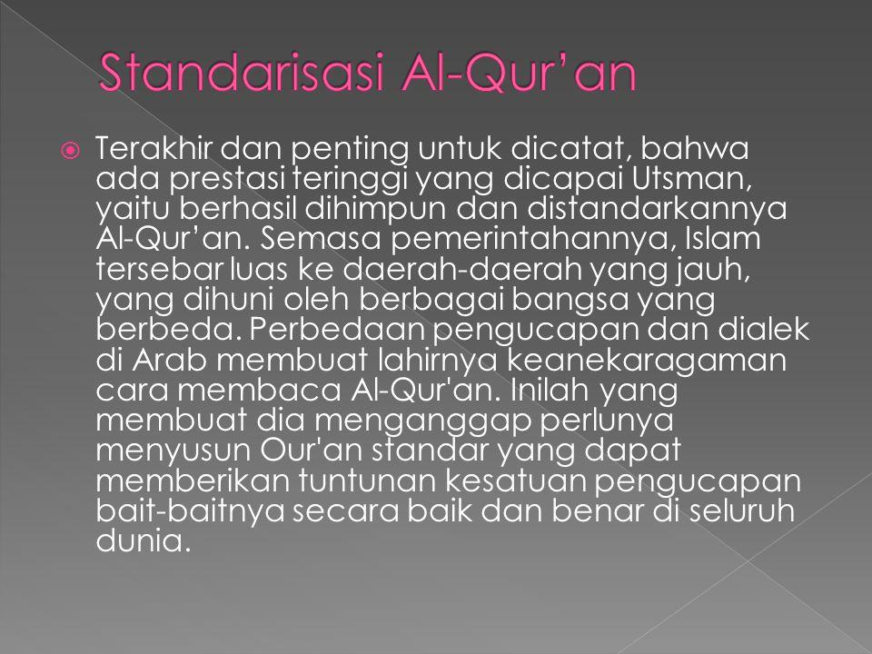 Standarisasi Al-Qur'an