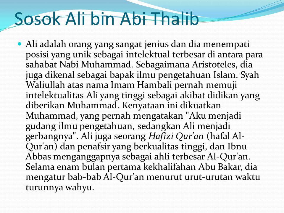 Sosok Ali bin Abi Thalib