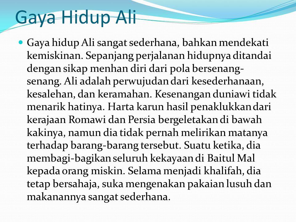 Gaya Hidup Ali