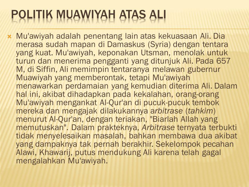 Politik Muawiyah Atas ALI