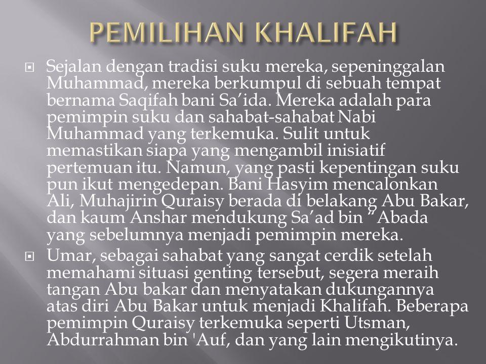 PEMILIHAN KHALIFAH