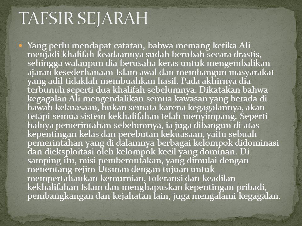 TAFSIR SEJARAH