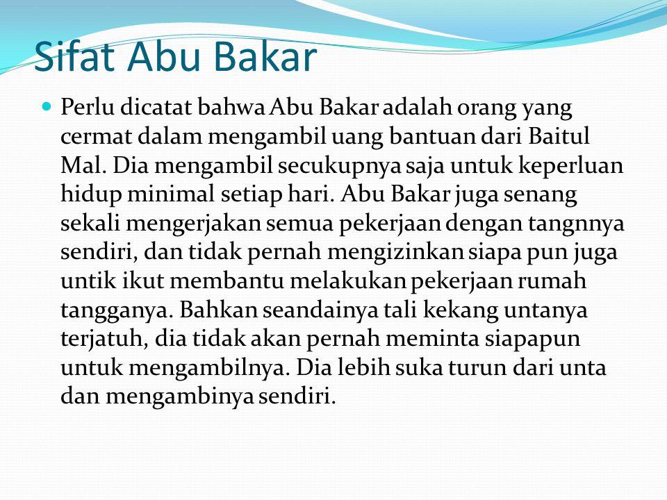 Sifat Abu Bakar