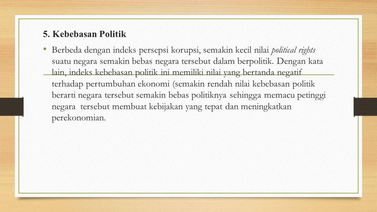 5. Kebebasan Politik