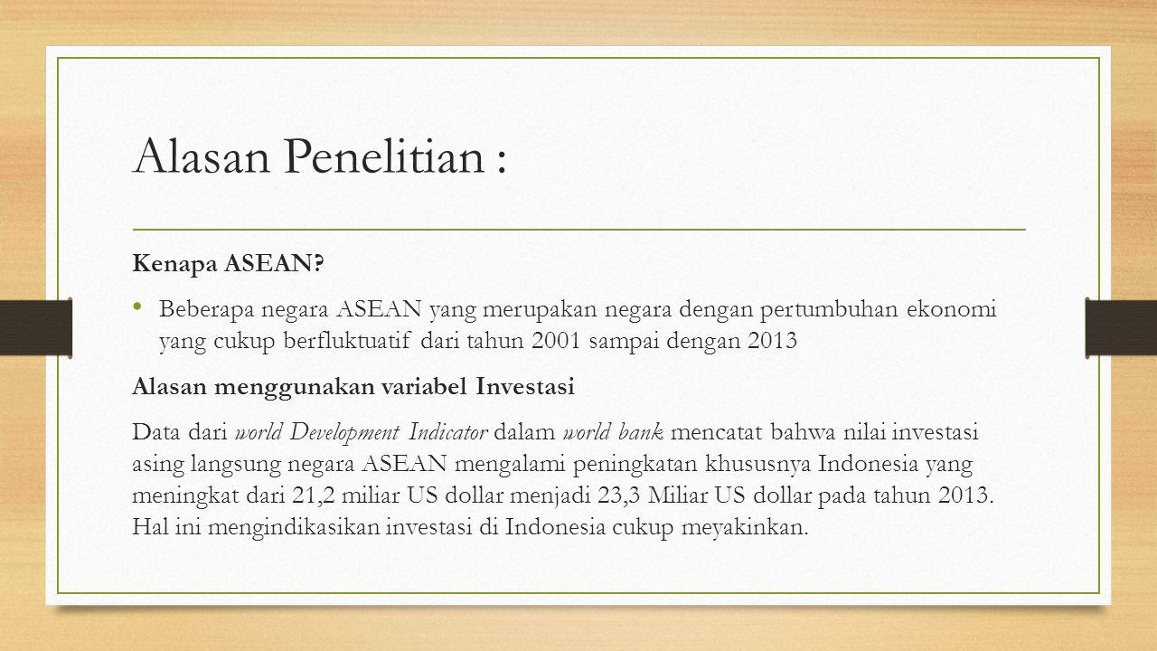 Alasan Penelitian : Kenapa ASEAN