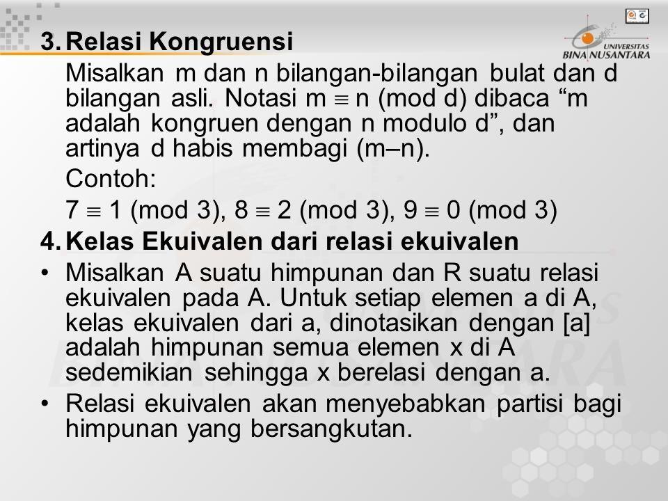 3. Relasi Kongruensi
