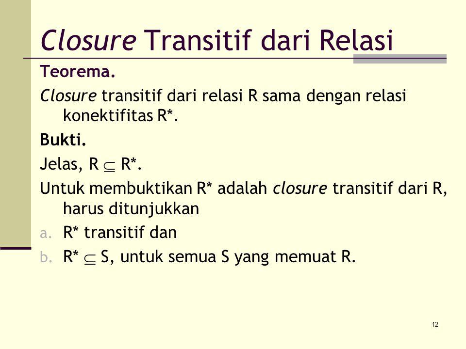 Closure Transitif dari Relasi