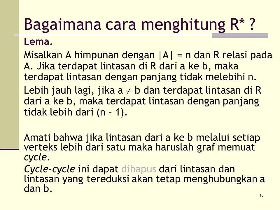 Bagaimana cara menghitung R*