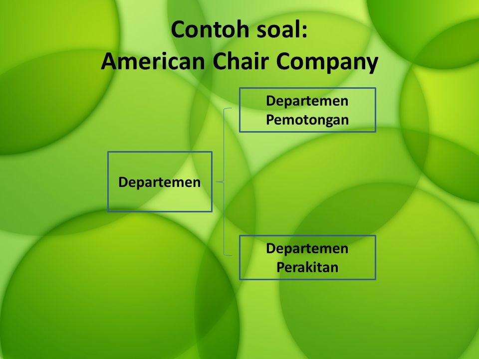 Contoh soal: American Chair Company