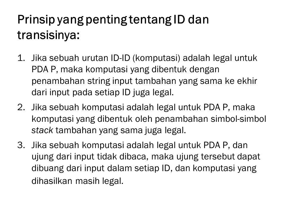 Prinsip yang penting tentang ID dan transisinya: