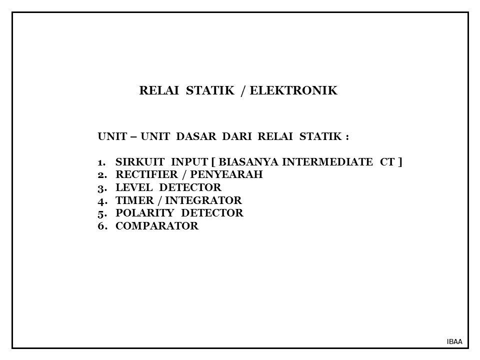 RELAI STATIK / ELEKTRONIK