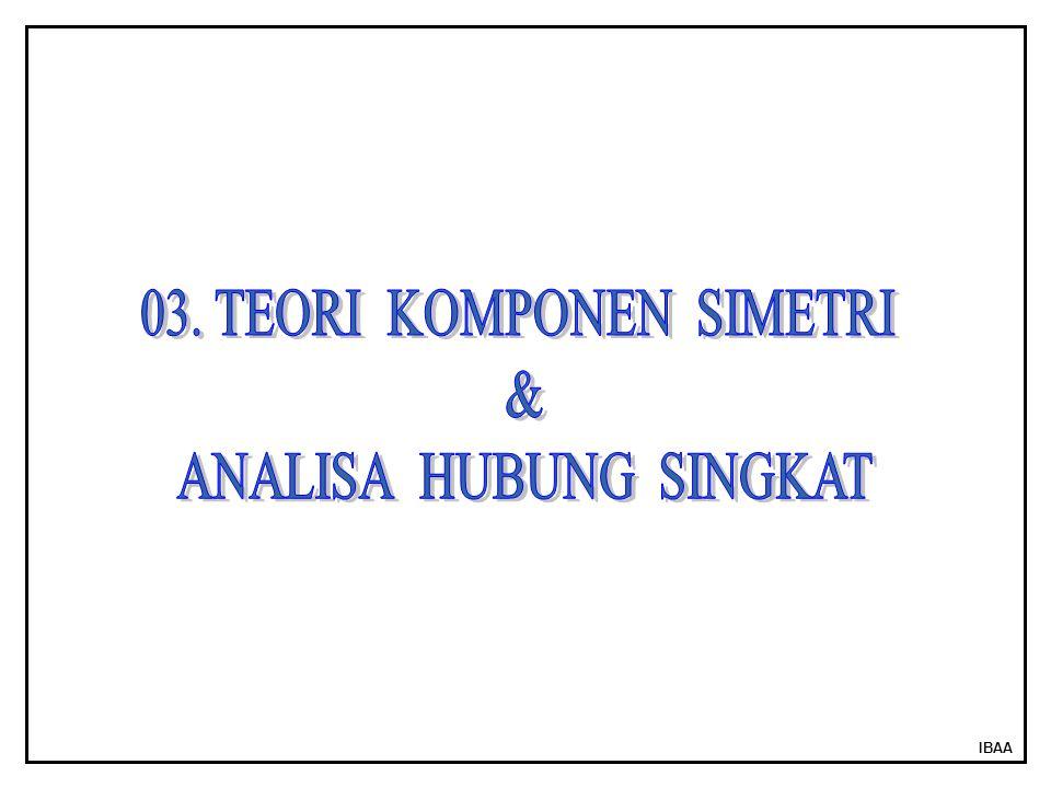 03. TEORI KOMPONEN SIMETRI & ANALISA HUBUNG SINGKAT