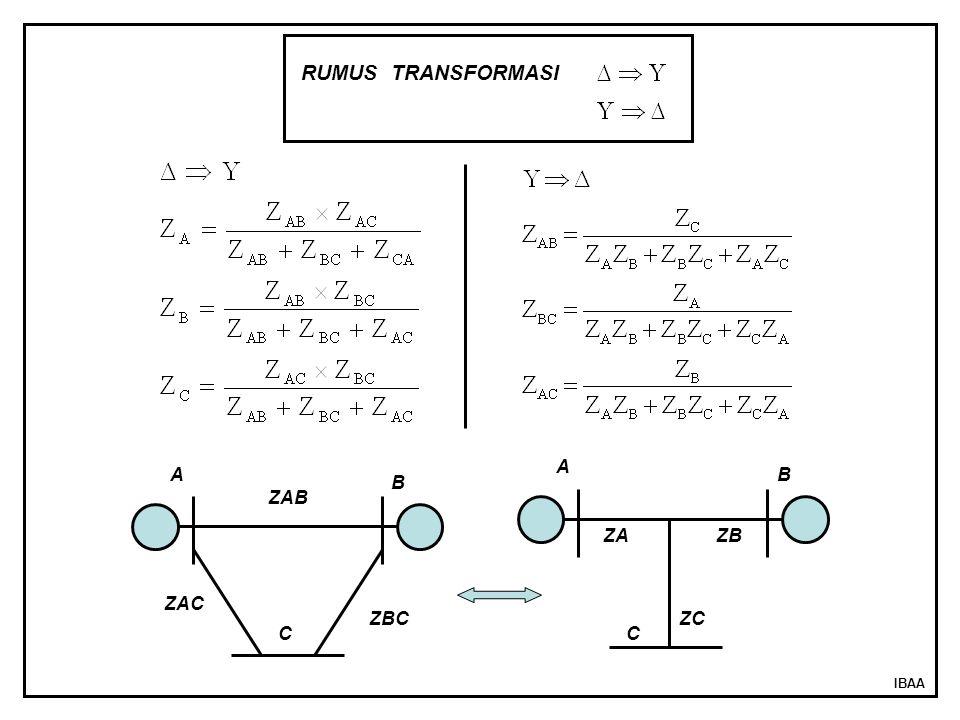 RUMUS TRANSFORMASI A A B B ZAB ZA ZB ZAC ZBC ZC C C IBAA