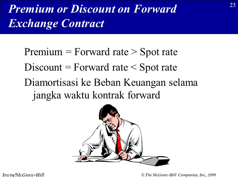 Premium or Discount on Forward Exchange Contract