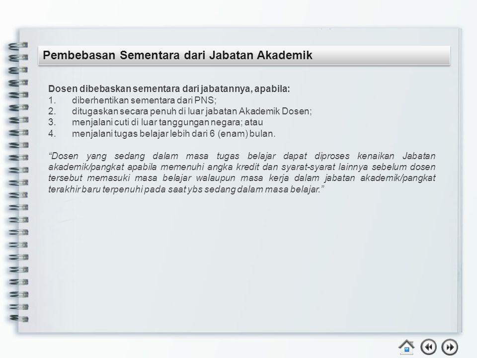 Pembebasan Sementara dari Jabatan Akademik