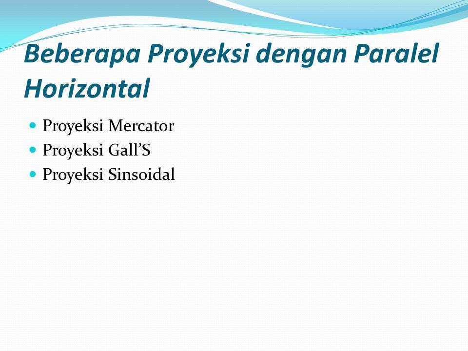 Beberapa Proyeksi dengan Paralel Horizontal