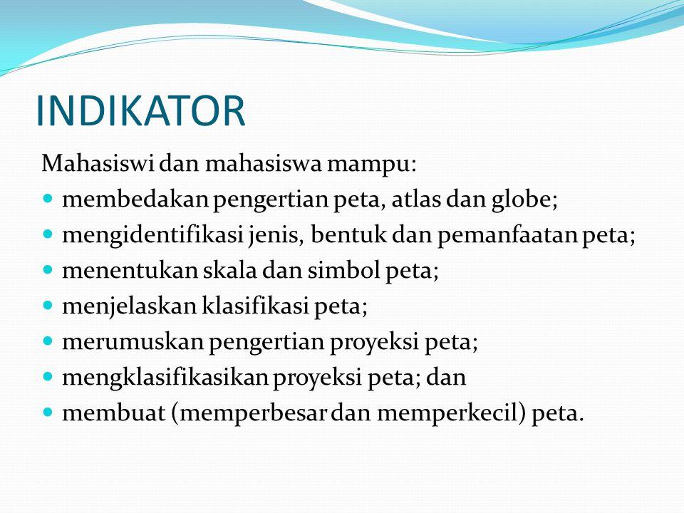 INDIKATOR Mahasiswi dan mahasiswa mampu: