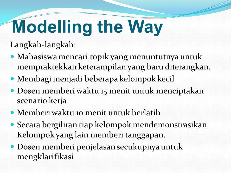 Modelling the Way Langkah-langkah: