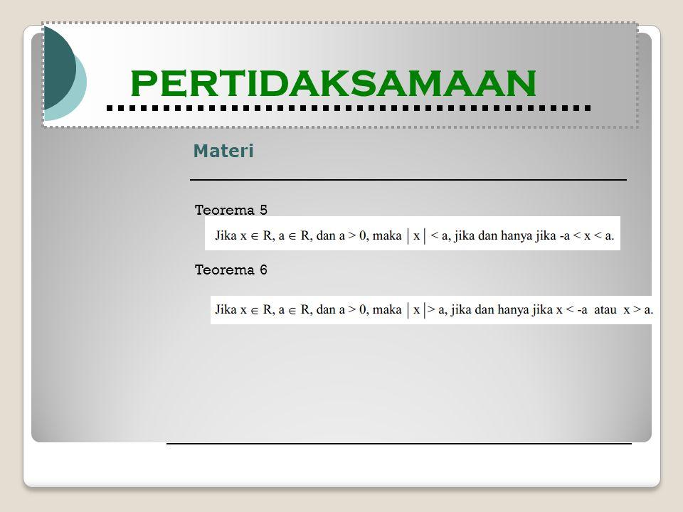 Materi Teorema 5 Teorema 6 PERTIDAKSAMAAN