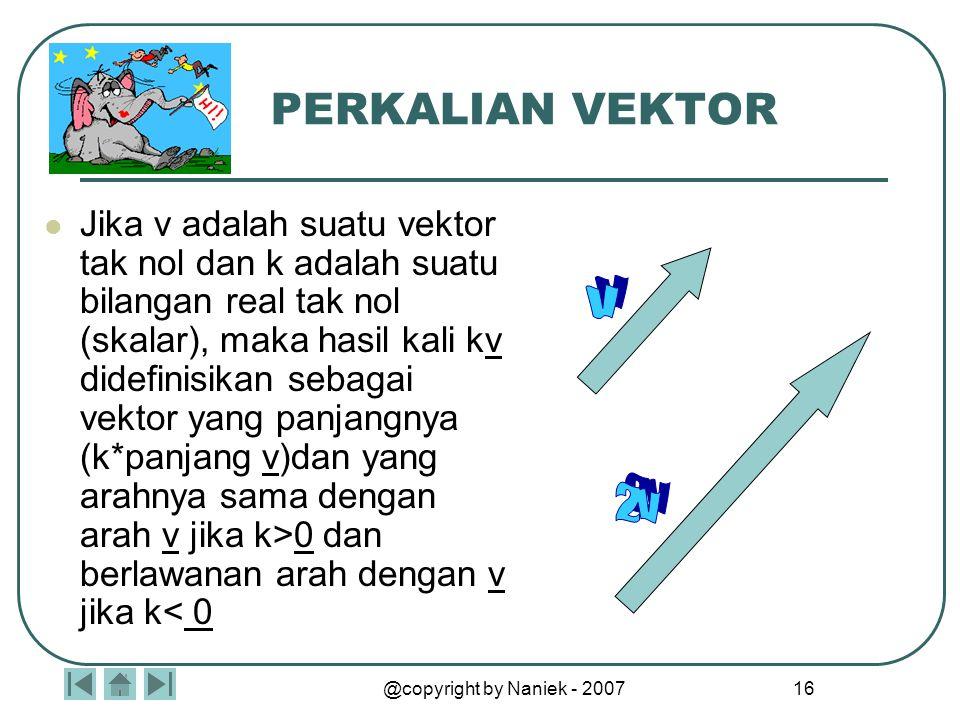 VEKTOR B A Ekor panah disebut ttk pangkal Arah panah menentukan