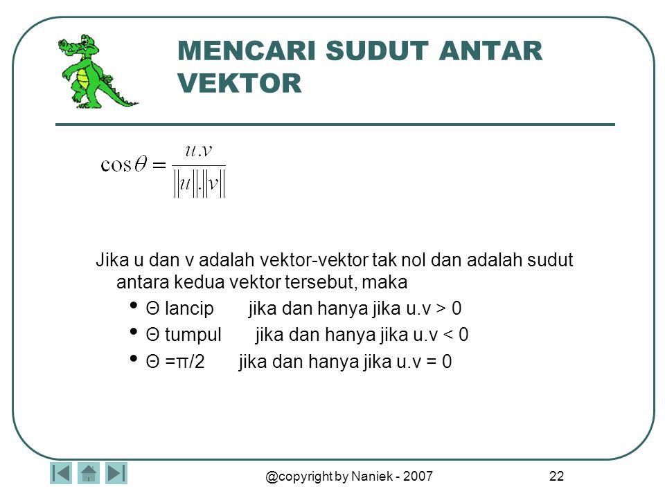 MACAM-MACAM VEKTOR Vektor adalah larik berdimensi satu