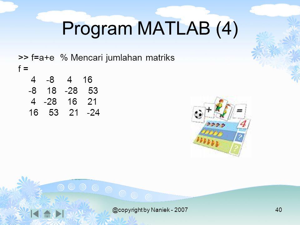 PERKALIAN MATRIKS A=(aij) dengan i=1,2,3,…,m dan j=1,2,3,…,n