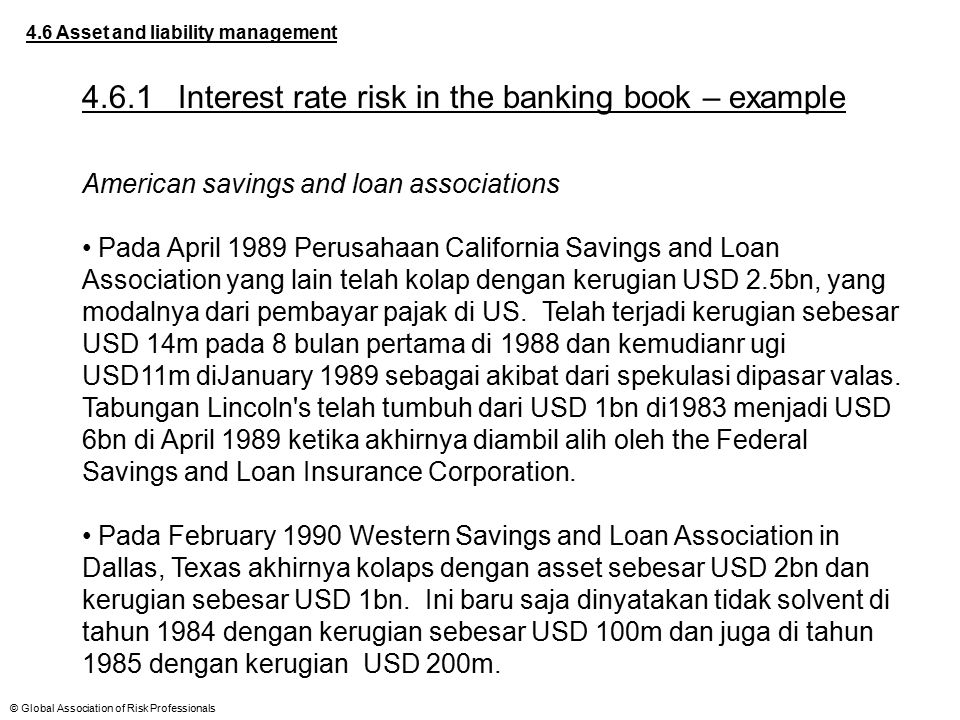 4.6.1 Interest rate risk in the banking book – example