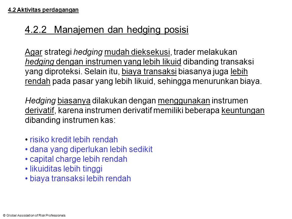 4.2.2 Manajemen dan hedging posisi