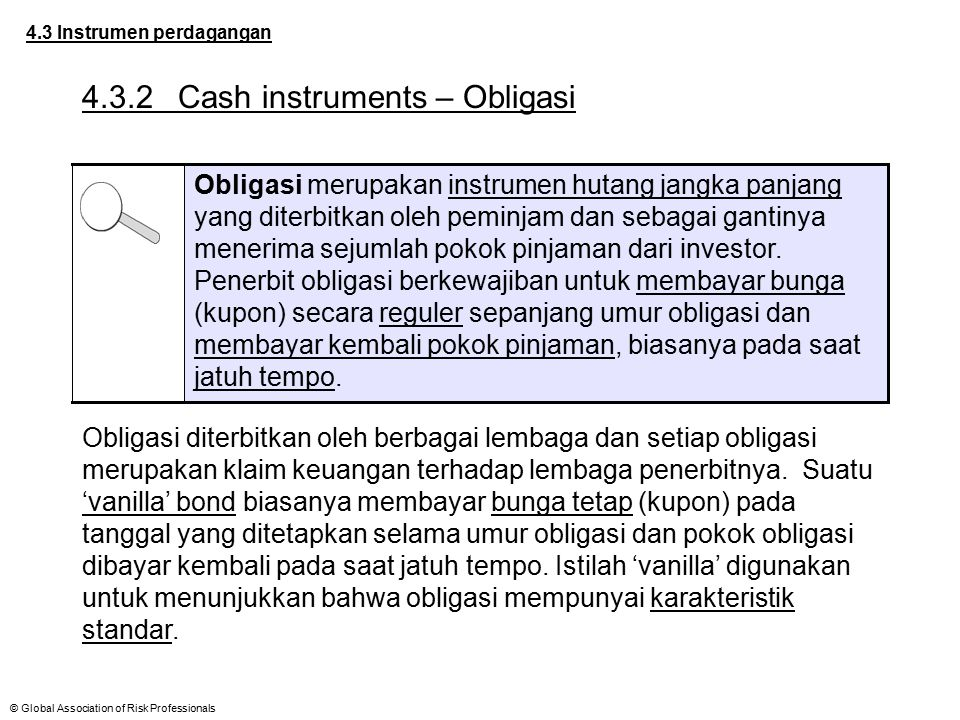 4.3.2 Cash instruments – Obligasi