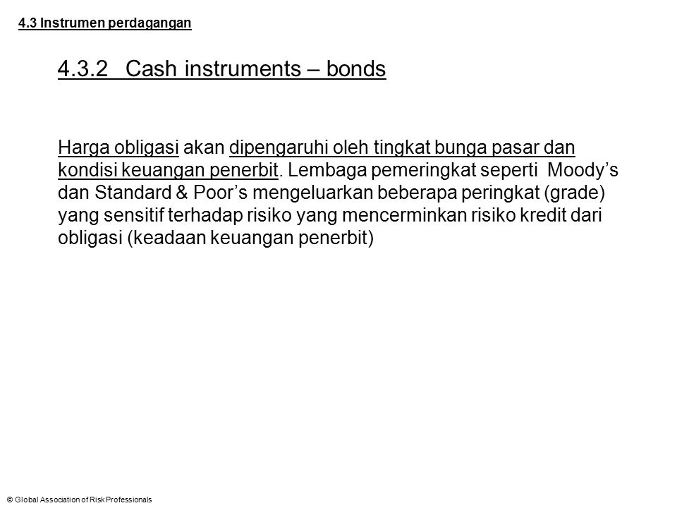 4.3.2 Cash instruments – bonds