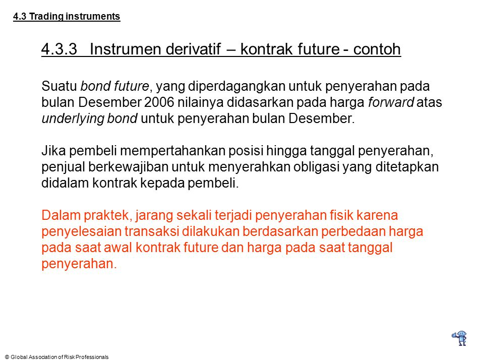 4.3.3 Instrumen derivatif – kontrak future - contoh