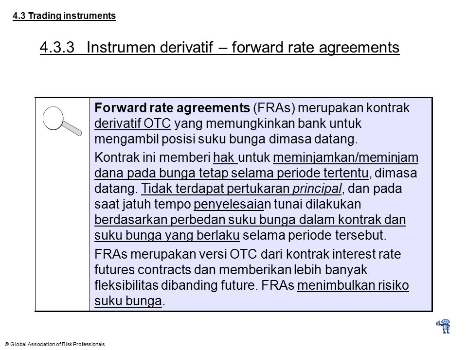 4.3.3 Instrumen derivatif – forward rate agreements