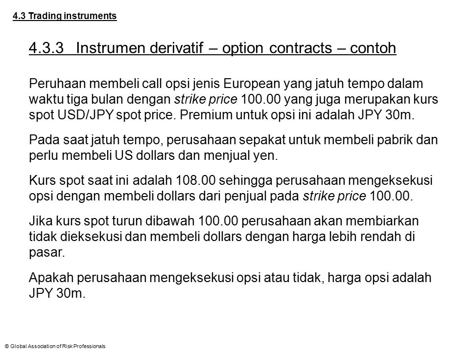 4.3.3 Instrumen derivatif – option contracts – contoh