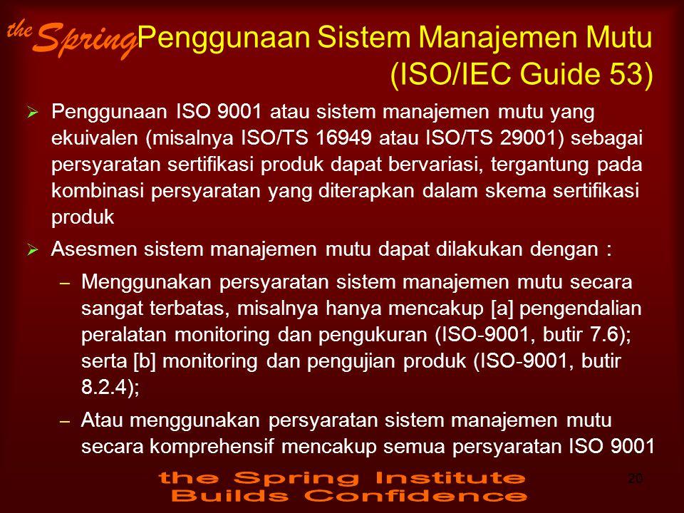 Penggunaan Sistem Manajemen Mutu (ISO/IEC Guide 53)