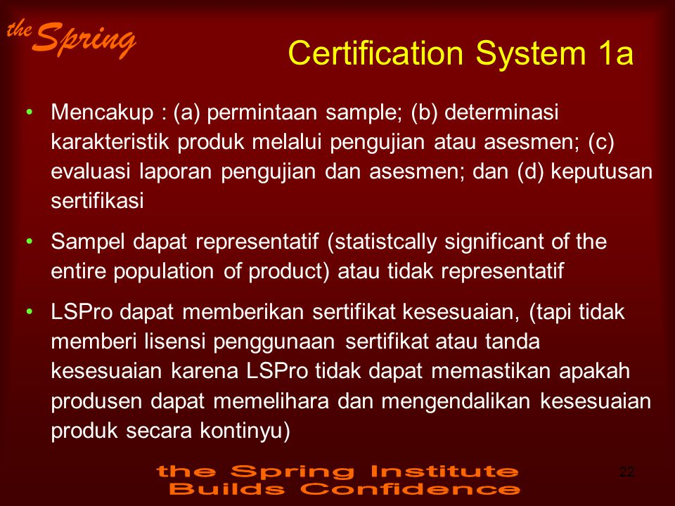 Certification System 1a