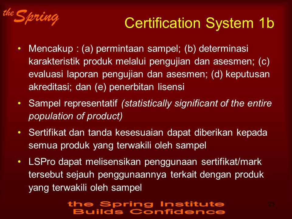 Certification System 1b
