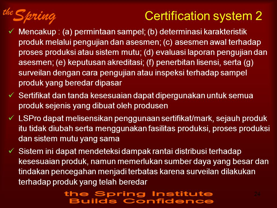 Certification system 2