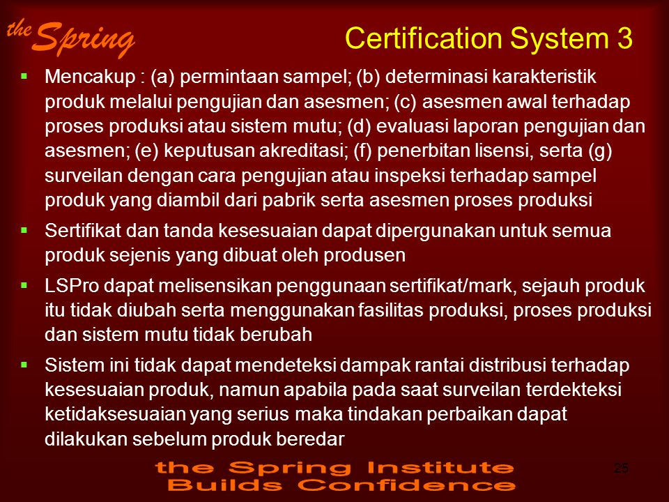 Certification System 3
