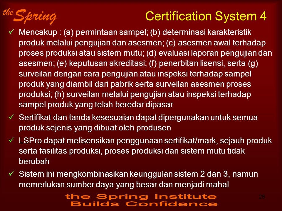 Certification System 4