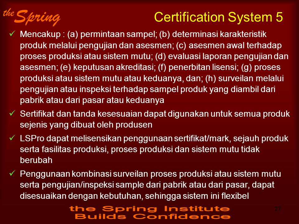 Certification System 5