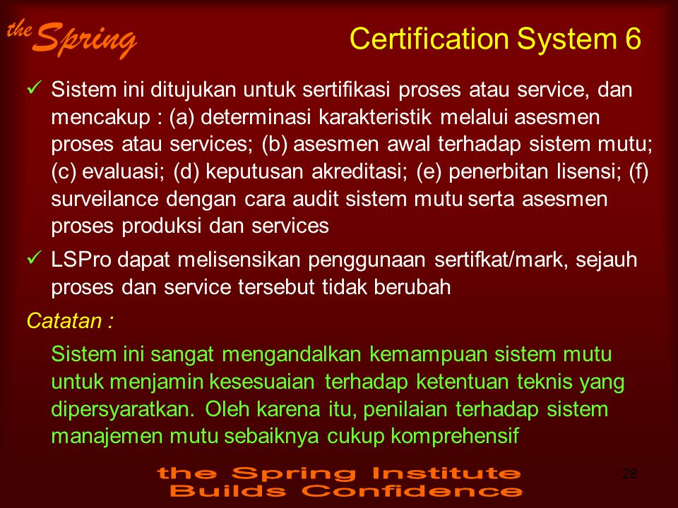 Certification System 6