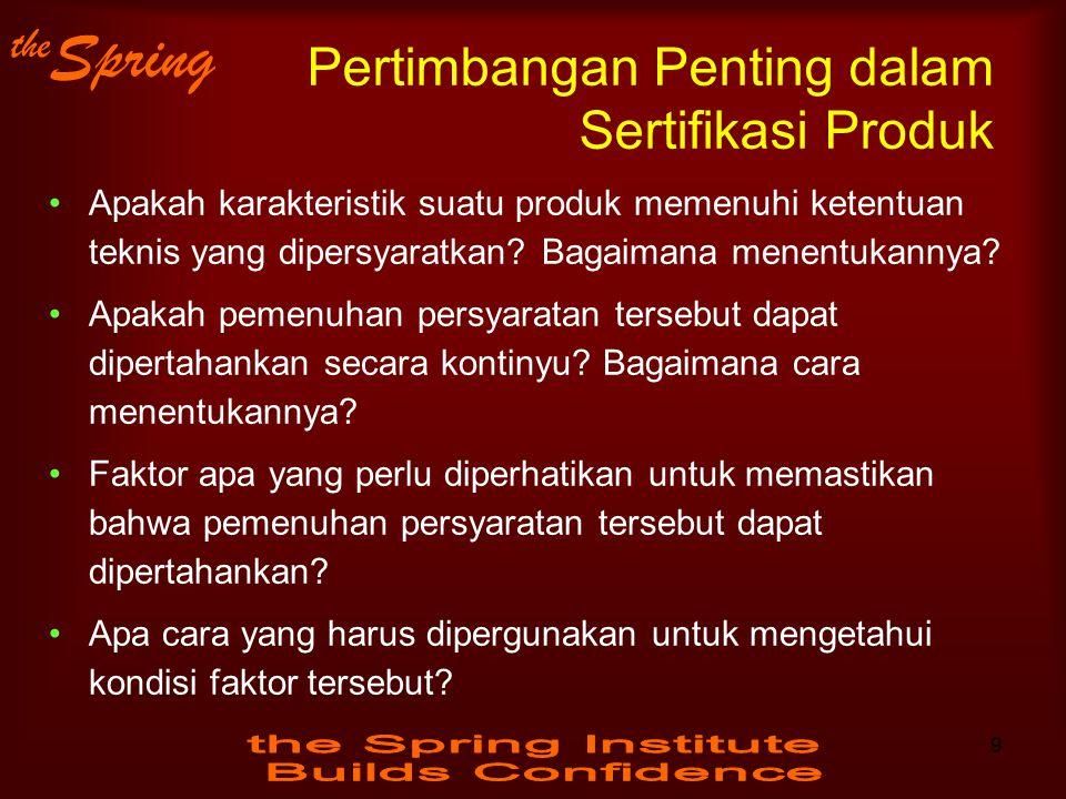 Pertimbangan Penting dalam Sertifikasi Produk