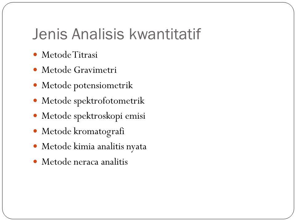 Jenis Analisis kwantitatif
