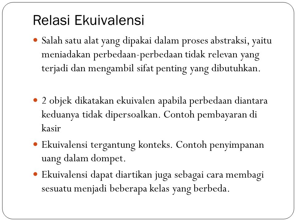 Relasi Ekuivalensi