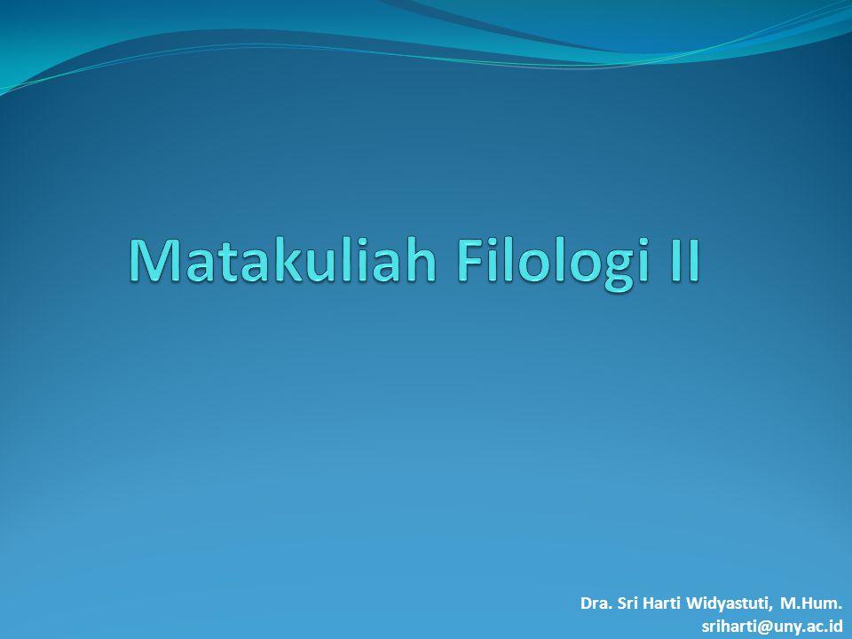 Matakuliah Filologi II