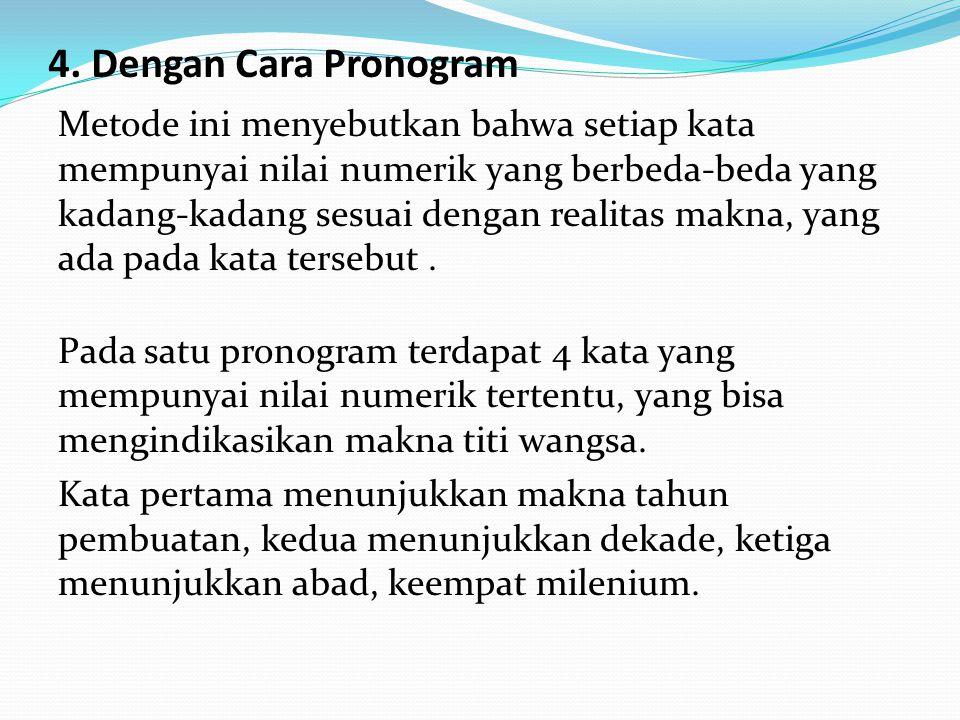 4. Dengan Cara Pronogram