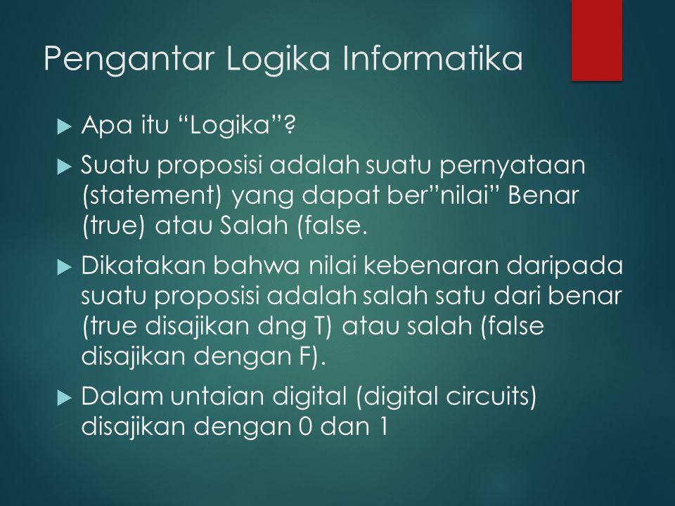 Pengantar Logika Informatika